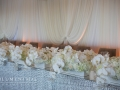 white floral bridal table flowers