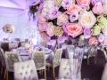 pastel floral centrepiece