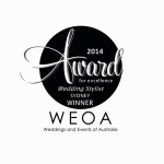 2014 Sydney Award - Wedding Stylist